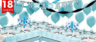 Blue Safari Baby Shower Deluxe Party Kit