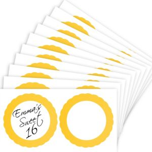 Sunshine Yellow Favor Sticker Labels 20ct