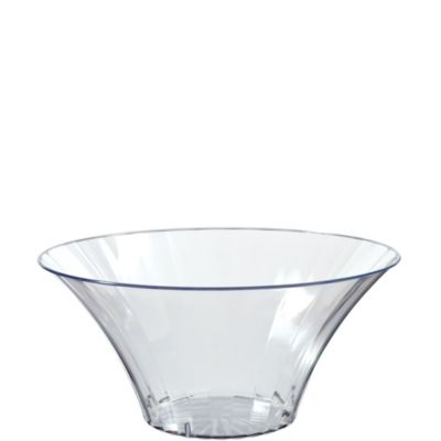 Clear Flared Bowl 7in