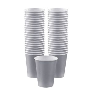 BOGO Silver Paper Coffee Cups 40ct