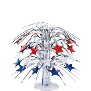Mini Patriotic Stars Cascade Centerpiece
