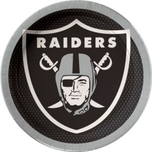 Oakland Raiders Lunch Plates 18ct