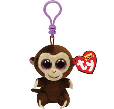 6625a8a0757 Clip-On Coconut Beanie Boo Monkey Plush 3 3 4in x 3 1 4in