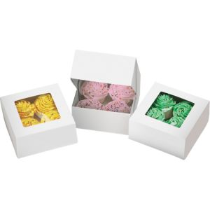 White Cupcake Boxes 3ct
