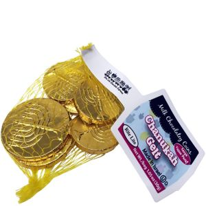 Kosher Chocolate Gelt Coin Bag