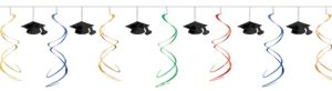 Multicolor Swirl Graduation Garland