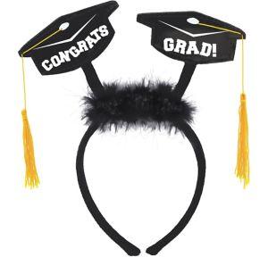 Grad Cap Marabou Head Bopper