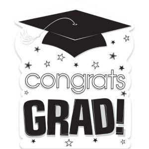 White Congrats Grad Cutout