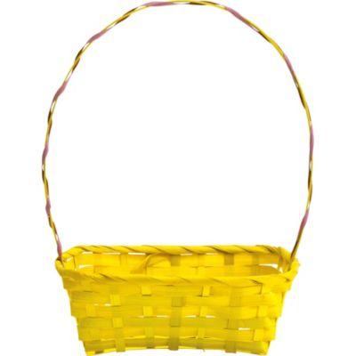 Yellow Bamboo Easter Basket