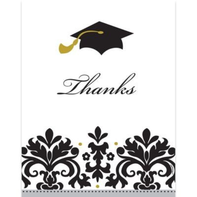Black & White Graduation Thank You Notes 50ct