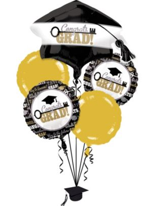 Graduation Balloon Bouquet 6pc - Key to Success