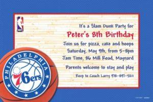 Custom Philadelphia 76ers Invitations
