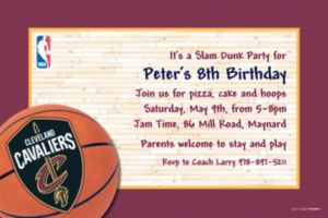 Custom Cleveland Cavaliers Invitations