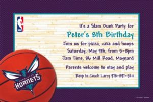 Custom Charlotte Hornets Invitations