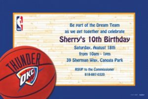 Custom Oklahoma City Thunder Invitations