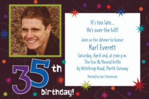 Custom The Party Continues 35th Birthday Photo Invitations