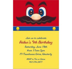 Custom Mustache Man Invitations