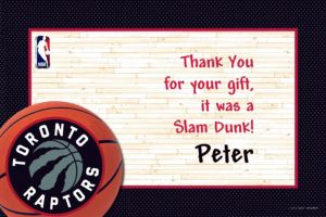 Custom Toronto Raptors Thank You Notes
