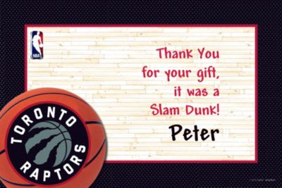 Toronto Raptors Custom Thank You Note