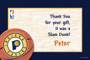 Custom Indiana Pacers Thank You Notes