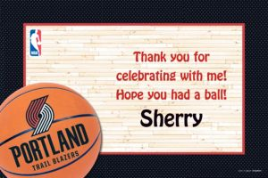 Custom Portland Trail Blazers Thank You Notes