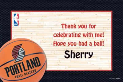 Portland Trail Blazers Custom Thank You Note
