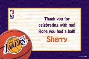 Custom Los Angeles Lakers Thank You Notes