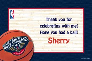 Custom New Orleans Pelicans Thank You Notes