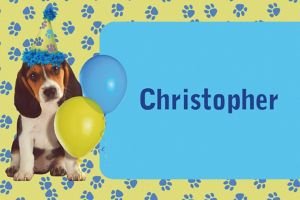 Custom Party Pups Thank You Notes