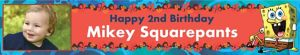 Custom Sponge Bob Simply Photo Banner 6ft