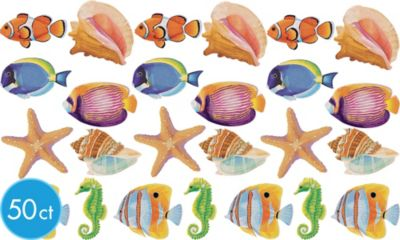 Glitter Fish Cutouts 50ct
