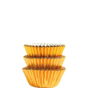 Gold Foil Mini Baking Cups 75ct