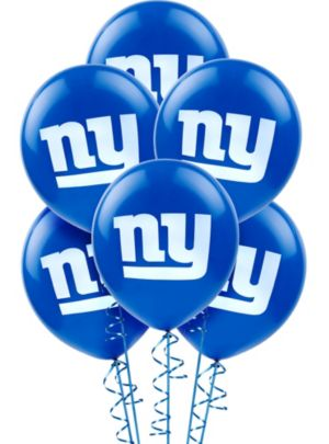 New York Giants Balloons 6ct