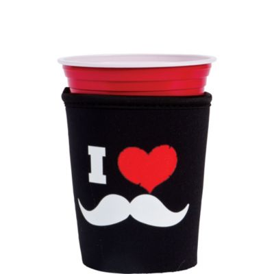 I Heart Mustaches Red Cup Buddy