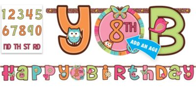 Hippie Chick Birthday Banner 10ft