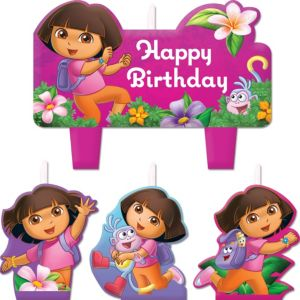 Dora the Explorer Birthday Candles 4ct