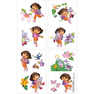 Dora the Explorer Tattoos 1 Sheet