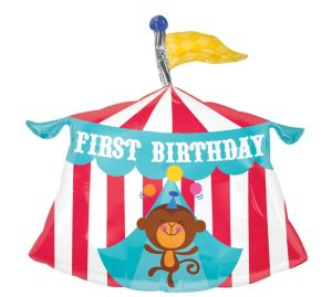 1st Birthday Balloon - Fisher-Price Circus Tent