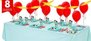 1st Birthday Mickey Mouse Basic Party Kit for 8 Guests