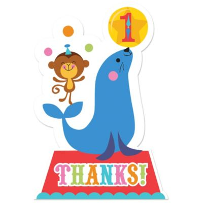 1st Birthday Fisher-Price Circus Thank You Notes 8ct