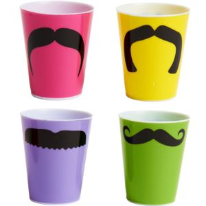 Moustache Shot Glasses 4ct