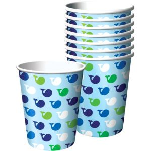 Ocean Preppy Birthday Cups 8ct