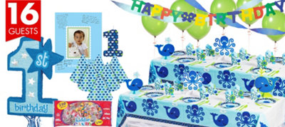 Ocean Preppy 1st Birthday Party Supplies Ultimate Party Kit