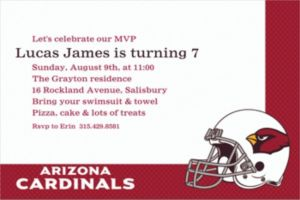 Custom Arizona Cardinals Invitations