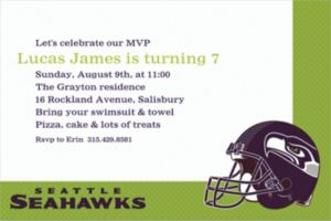 Custom Seattle Seahawks Invitations