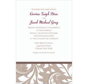 Custom Silver Wedding Invitations