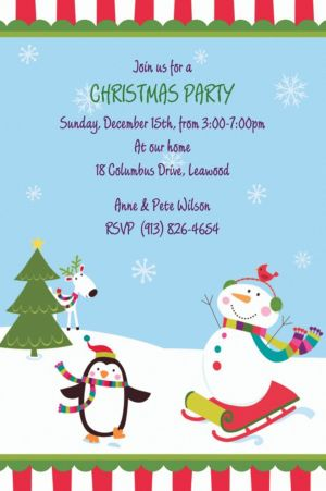 Custom Joyful Snowman Invitations