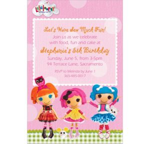 Custom Lalaloopsy Invitations