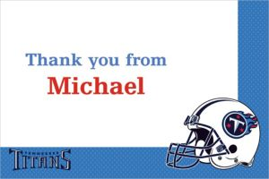 Custom Tennessee Titans Thank You Notes