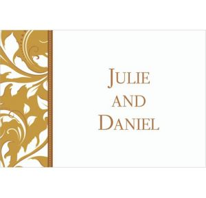 Custom Golden Wedding Thank You Notes